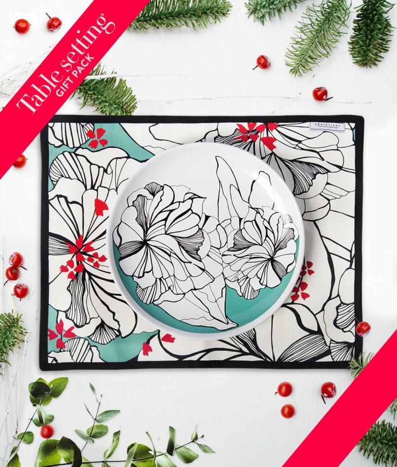 gift-pack-table-set-tovaglietta-piatto-flower